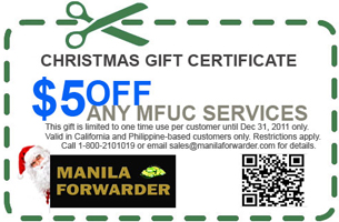Manila Forwarder - Newsletter November 2011